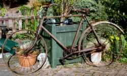 Photograph: Rusty bicycle.
