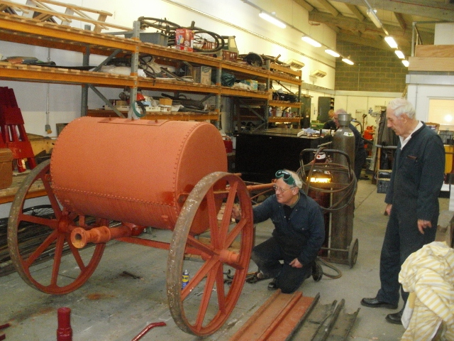 Water Cart being dismantled